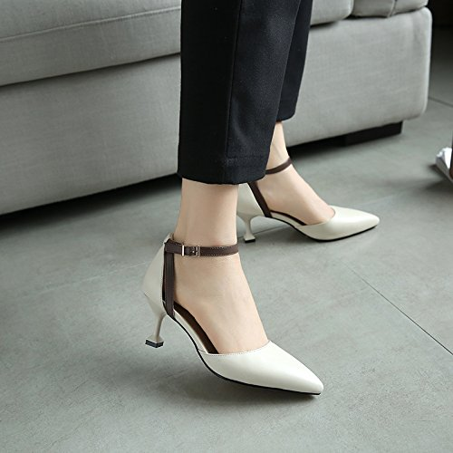 De Talon Couleur unie Chaussures Stiletto Printemps Été Heels SHOESHAOGE Chaussures 6qYwB0Ba