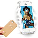 The KIMI KIMI Selfie Light iPhonCase, Fashion Luxury Flash Mobile Led Cover, Increase Facial Light, (Rose Gold, iPhone 7/8 Plus)