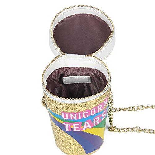 LUI SUI 2017 Unicorn Tears Girls Drink Cross Body Bag Chain Purse (Gold) Photo #7