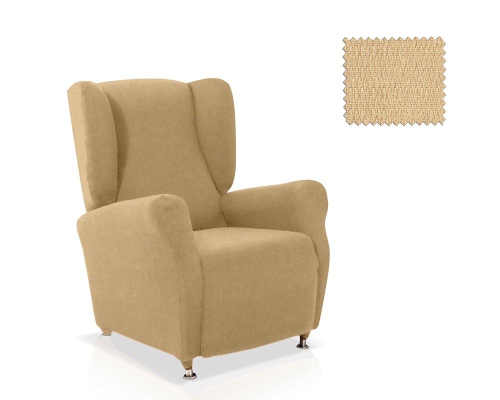 JM Textil Housse Fauteuil /à Oreilles Minerva Couleur Beige Taille Standard Plusieurs Couleurs Disponibles