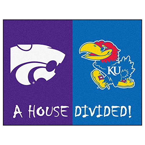 NCAA House Divided - Kansas/Kansas State House Divided Non-Skid Mat Rectangular Area Rug