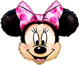 27'' MINNIE MOUSE HEAD BALLOON - Amazing New HOVERING ANTI-GRAVITY TOY - Free Floating, Flying Disney Cartoon Character Birthday Party Favor