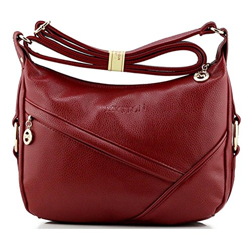 PU Red body Water Bagtopia Casual Ladies Leather Shoulder Small for Women's Hobo Purses resistant Bags Cross q8P4qZH
