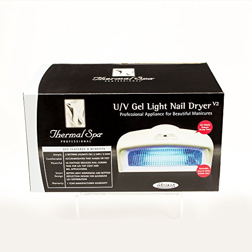 Thermal Spa UV Auto Gel Lamp Nail Dryer, 45 Watt
