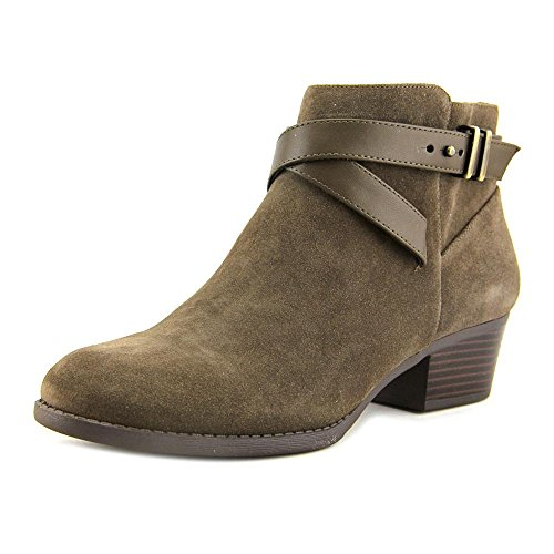 Leather Round Bootie Mushroom INC Toe W Concepts International Herbii aII8SY0