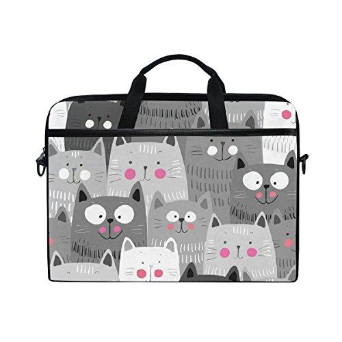 Colorful Cat (JSTEL Cute Cats Colorful Laptop Shoulder Messenger Bag Case Sleeve for 14 inch to 15.6 inch with Adjustable Notebook Shoulder Strap)