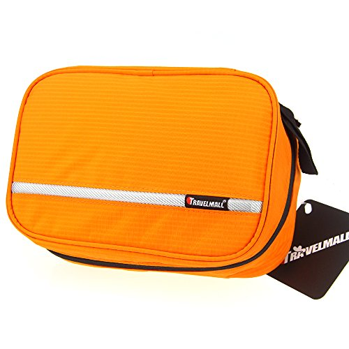 Samtour-Cosmetic-Pouch-Toiletry-Bags-Travel-Business-Handbag-Waterproof-Compact-Hanging-Personal-Care-Hygiene-Purse-orange