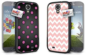 Polka Dots Pink Chevron White COMBO TWO PACK for Samsung Galaxy S5