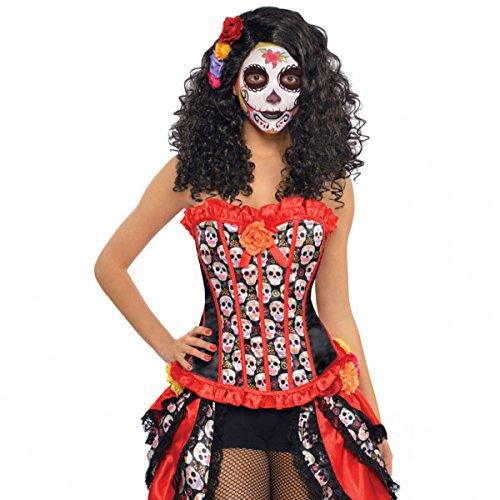 Sugar Skull Corset Costume - Standard - Dress Size 6-8