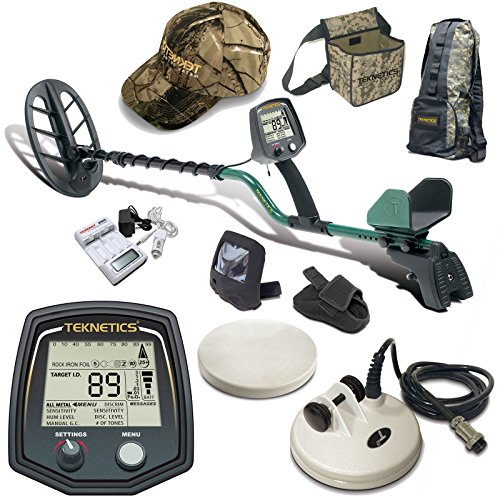 Teknetics T2 Classic Metal Detector with 11″ DD Search Coil and Accessory Bundle For Sale
