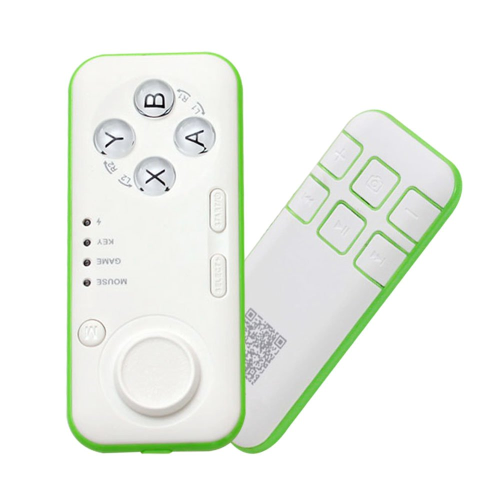 HONGYE Universal Wireless Bluetooth 3.0 Mini VR Remote & Gamepad Controller with iOS & Android Smartphones/PC for Video/Selfie/Music/Mouse/Ebook/VR Games/TV Box (Green)
