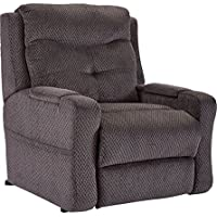 Lane Miguel Big Man Power Lift Recliner With Six Mortor Heat and Massage.(18585m-1291-85) Free curbside delivery. (See Fabric swatch for actual color)