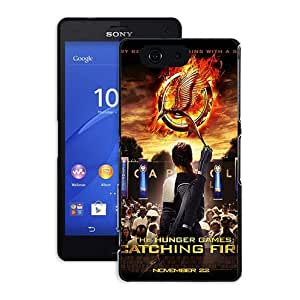 Sony Xperia Z3 Compact Funda Case Movie The Hunger Game Cartoon Plastic Shell Funda Case for Cellphone