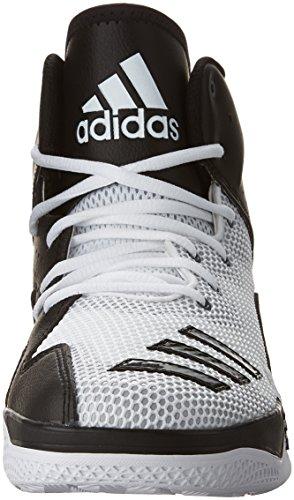 adidas Performance Herren DT Bball Mid Basketballschuh Weiß / Schwarzlicht Onix