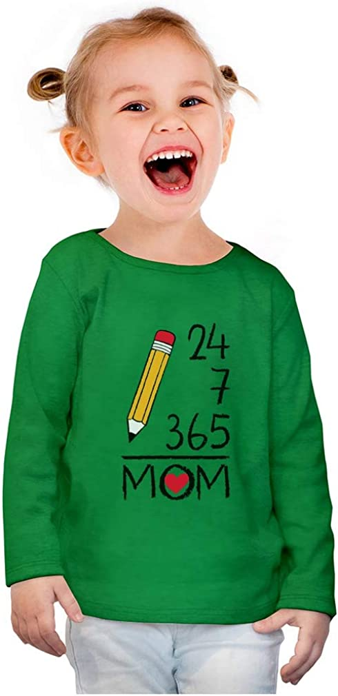 from Kids 24//7//365 = MOM Toddler//Kids Long Sleeve T-Shirt