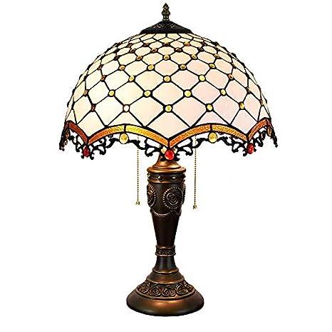 Lámpara mesa LED Tiffany Lámpara E27 Escritorio Lámpara vitral ...