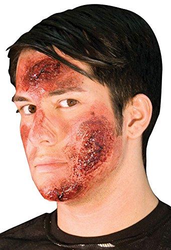 Road Rash Halloween Makeup (Woochie by Cinema Secrets Road Rash Latex Appliance, Multi, One)