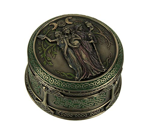 Veronese Design Celtic Triple Goddess Maiden Mother Crone Trinket Box