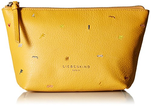 Embroidered Leather Toiletry Bag - 1