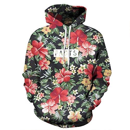 Sankill+Unisex+Realistic+3d+Digital+pullover+sweatshirt+Hoodie+Hooded+Sweatshirt+S-3XL+s%2Fm-flower
