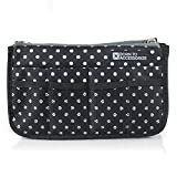 zippered handbag organizer - BTA Handbag Organizer Black Polka Dots Made from Premium Polyester with 13 Compartments to Keep Your Handbag Neat and Organized (Large)