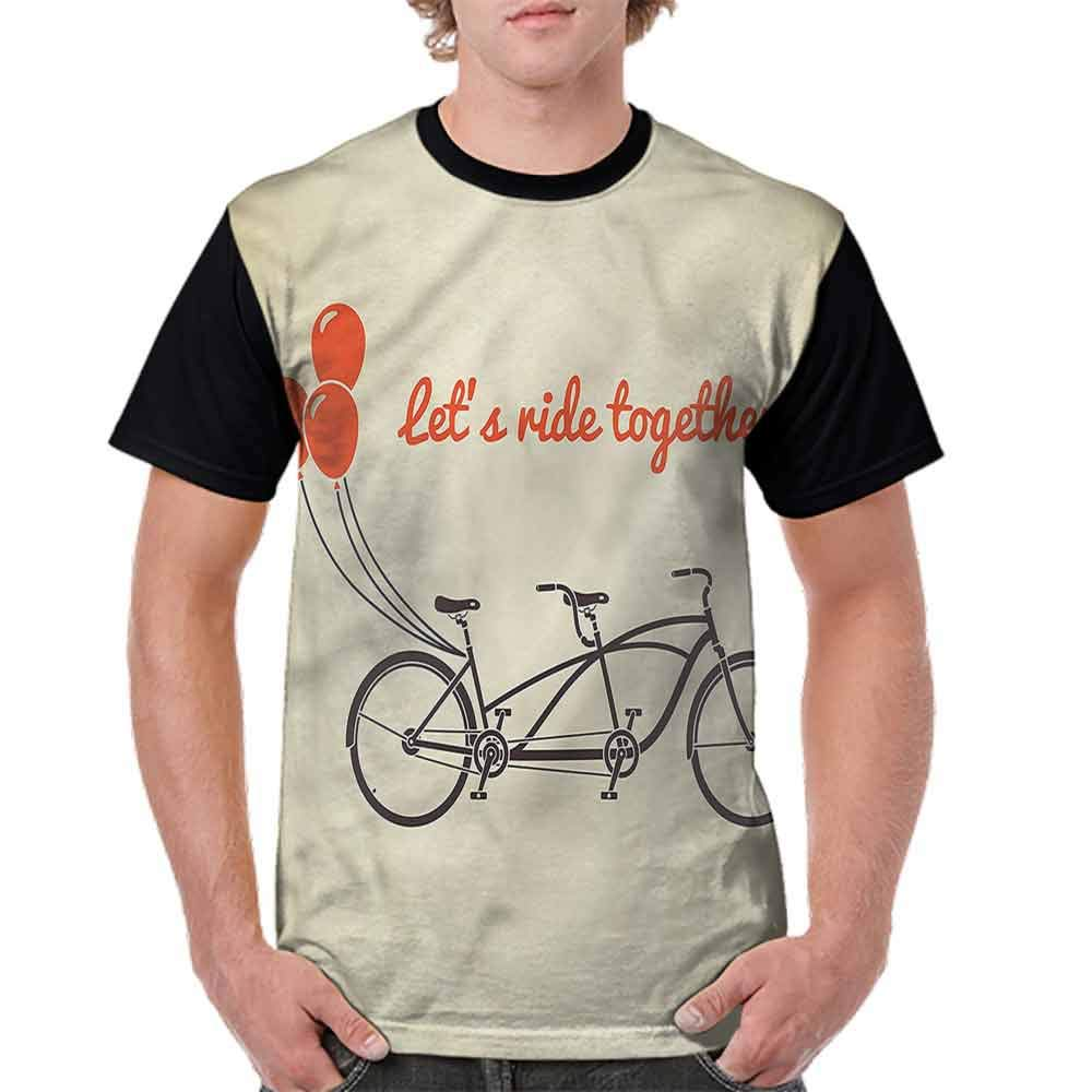 Classic T-Shirt,Lets Ride Together Romance Fashion Personality Customization
