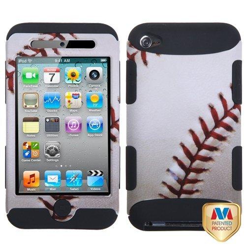 MyBat TUFF Hybrid Protector Cover for iPod touch Generation 4 (Baseball/Black)