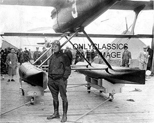 OnlyClassics 1925 PILOT JIMMY DOOLITTLE CURTISS RACER SEAPLANE RACING 8X10 PHOTO HISTORIC AVIATION