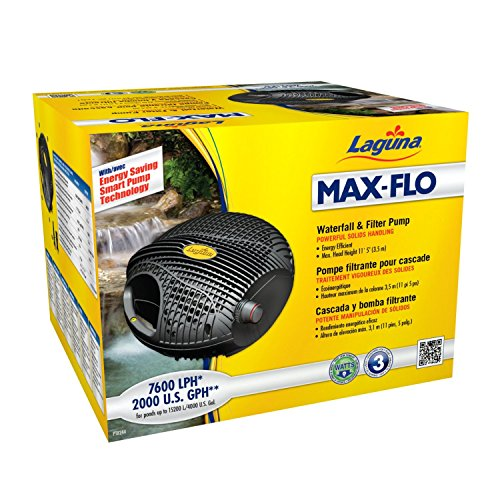 Laguna Max-Flo 2000 Electronic Waterfall and Filter Pump for Ponds Up to 4000-Gallon -