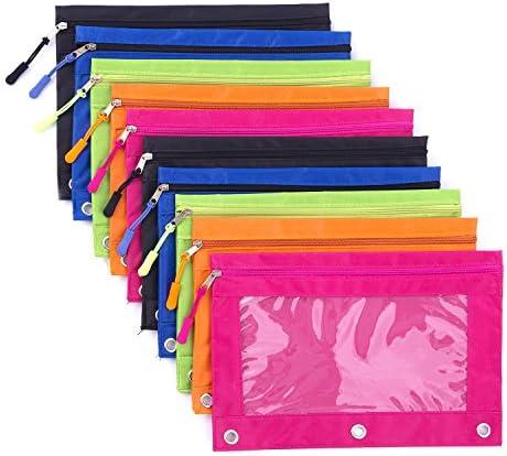 Binder Pencil Zipper Enforced Colors product image
