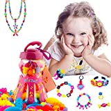 Pop Snap Beads Girl Toys - 85 Pieces Set Fashion Creative DIY Jewelry Making Kit for Necklace and Bracelet for Kids Art Crafts Christmas Gift Toy