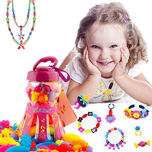 Pop Snap Beads Girl Toys - 85 Pieces Set Fashion Creative DIY Jewelry Making Kit for Necklace and Bracelet for Kids Art Crafts Christmas Gift Toy by PalkSky