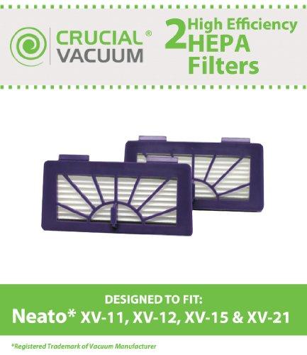 2 Neato Pet & Allergy Filters Designed To Fit Neato XV-11...