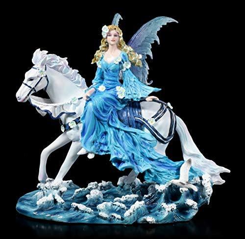 Nene Thomas Fantasy Elfen Figur auf Pferd reitend - Euphoria   Feenstatue, Handbemalt, Motiv