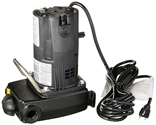 Zoeller 314-0002 115-volt 1/2 HP Portable Motor Non-Submersible Utility Pump for Dewatering