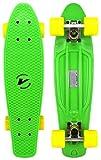 Velocity Boards Retro Cruiser Complete 22' Banana Skateboard w/ Aluminum Trucks, Fast ABEC-7 Bearings, High Quality Wheels & Bushings (Marble - Green/Blue/Purple)