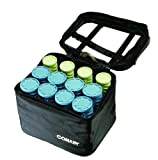 Conair Instant Heat Compact Hot Rollers W/ Ceramic Technology; Black Case With Blue
