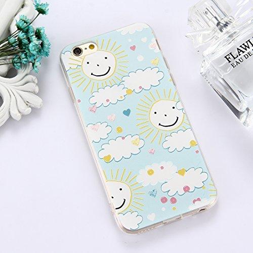 Phone Case & Hülle Für iPhone 6 Plus und 6s Plus TPU geprägte transparente Wassermelone Muster Drop-Schutz-Schutzhülle Rückseite ( Size : Ip6p5301c )