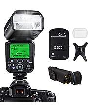 Flash Speedlite per Nikon,ESDDI I-TTL Kit Flash professionale con trigger flash wireless, 1/8000 HSS Wireless Flash Speedlite GN58 2.4G Master slave wireless radio per Nikon DSLR (Flash Nikon)