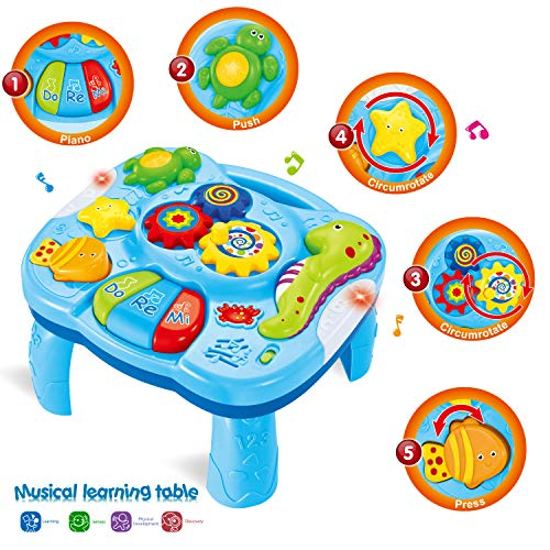 HOMOFY Musical Learning Table Baby Toys 6 to12 Months Early Education Music