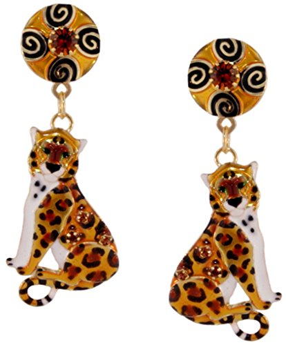 Lunch at The Ritz 2GO USA Leopard Snack Earrings Posts by Lunch at The Ritz