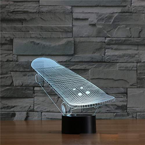 NeanTak Skateboard 23d Light Colorful Led Visual Light Gift Atmosphere Table Lamp NA ()