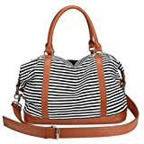 Best S-ZONE Luggage Bags - S-ZONE Women Ladies Canvas Weekender Bag Overnight Carry-on Review