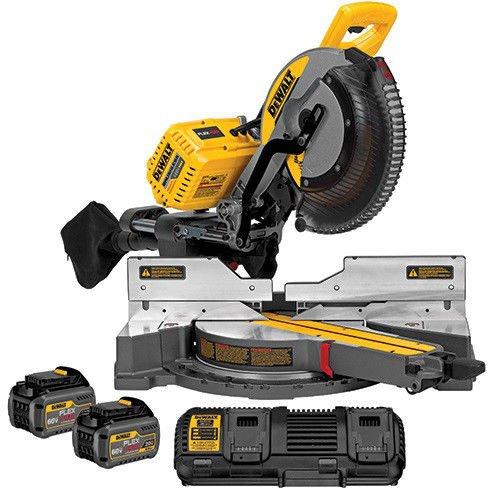Dewalt Saw Mitre (DEWALT DHS790T2 FLEXVOLT 120V MAX Double Bevel Compound Sliding Miter Saw Kit)