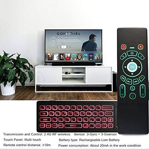2.4Ghz 7-Colors Wireless Keyboard Smart Remote Control Backlit Air Mouse Backlit 2.4G IR Learning Backlit for Android TV Box Victoria-ACX