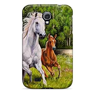 Galaxy High Quality Tpu Case/ Swans Lake Horses YrwbhXV2841YcGqK Case Cover For Galaxy S4 by Maris's Diary