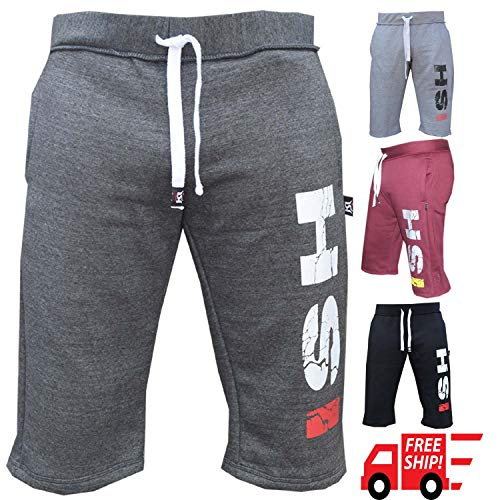 ISH Cotton Fleece Mens Shorts Jogging Casual Home Wear MMA Boxing Martial Arts Sports
