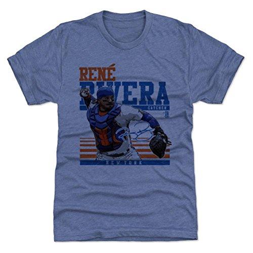 500 Very's Rene Rivera Premium T-Shirt S Tri Royal - Rene Rivera Sport B - New York Baseball Fan Gear Officially Licensed by the MLB Players Association