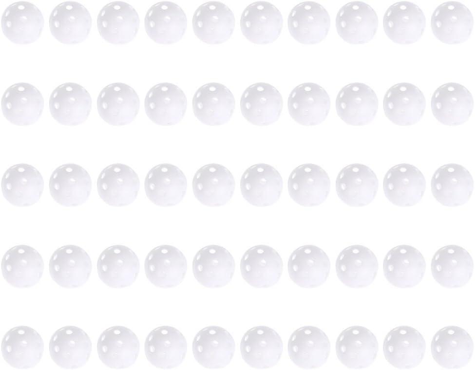 ttnight Golf Practice Balls, 50 PCS Plastic Green Golf Training Balls Airflow Hollow Golf Ball Practice Training Sports Balls Golf Accessories