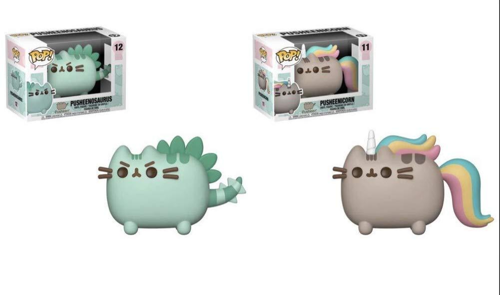 Pack of 2 Pusheenosaurus and Pusheenicorn Collectible Figures Pusheen Funko Pop Animation
